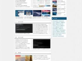 WordPress原创中文主题夏叶主题免费下载 适用于杂志、电影、博客、图片、文字、CMS
