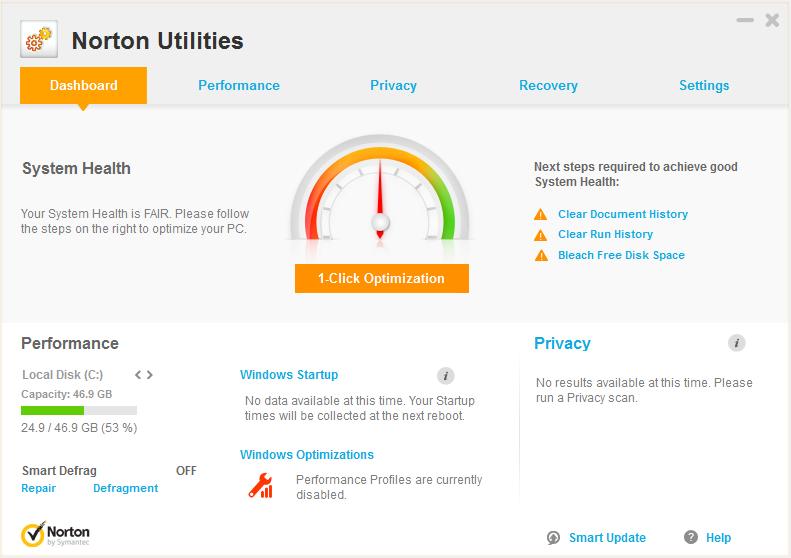 电脑优化大师 Symantec Norton Utilities 21.4.3.281 多语言版