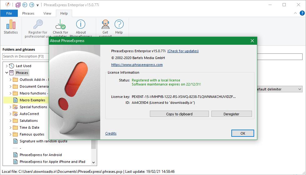 剪贴板增强工具 PhraseExpress v15.0.92 激活版