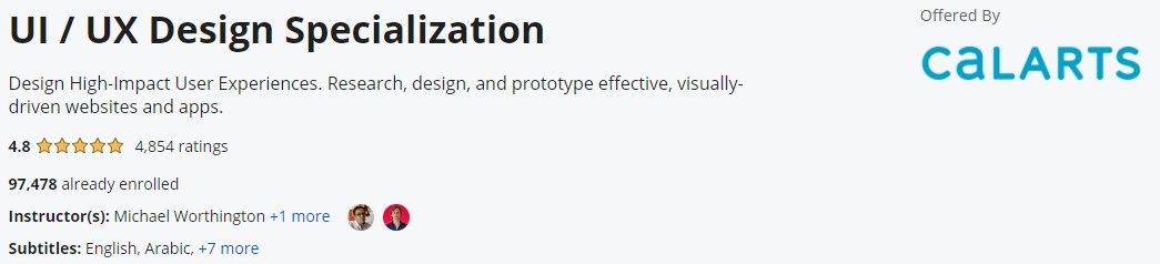 UI / UX视频教程 Coursera UI / UX Design Specialization 2021-6