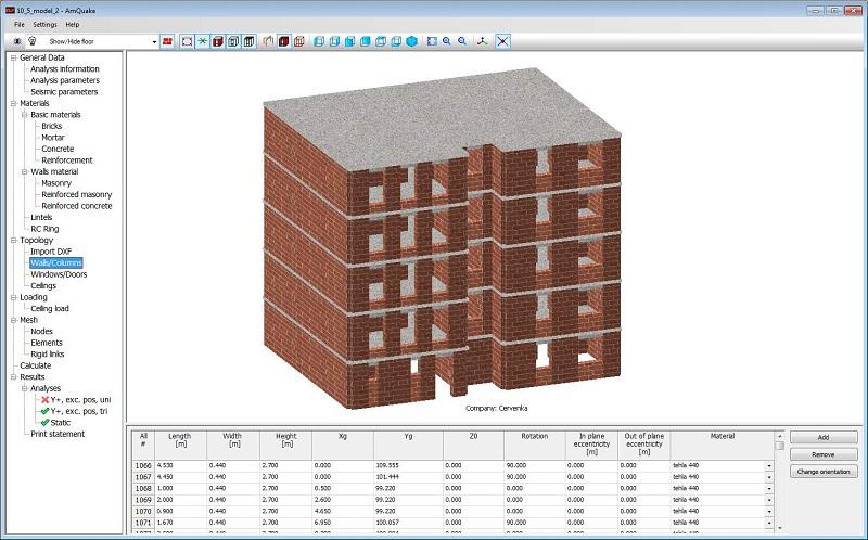 抗震评估软件 ATENA Masonry EarthQuake (AmQuake) 3.8.14998