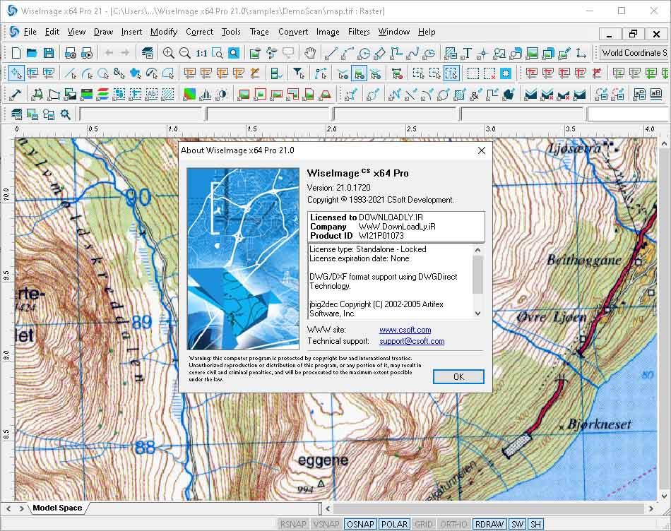 光栅矢量文件格式转换 CSoft WiseImage Pro 21.0.1720 x86/x64